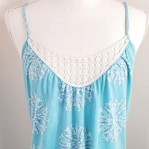 Lilly Pulitzer Crochet Fish Print Tank
